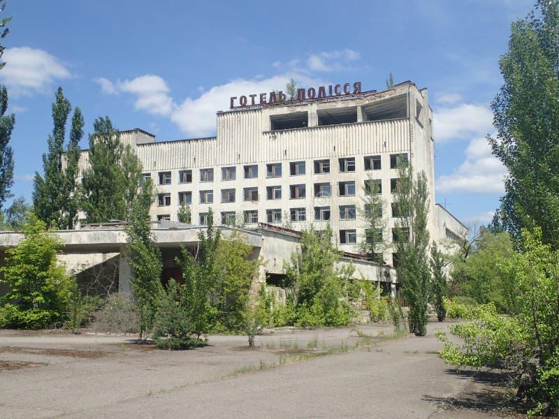 Hotel abandonado, Chernóbil imágenes de archivo libres de regalías