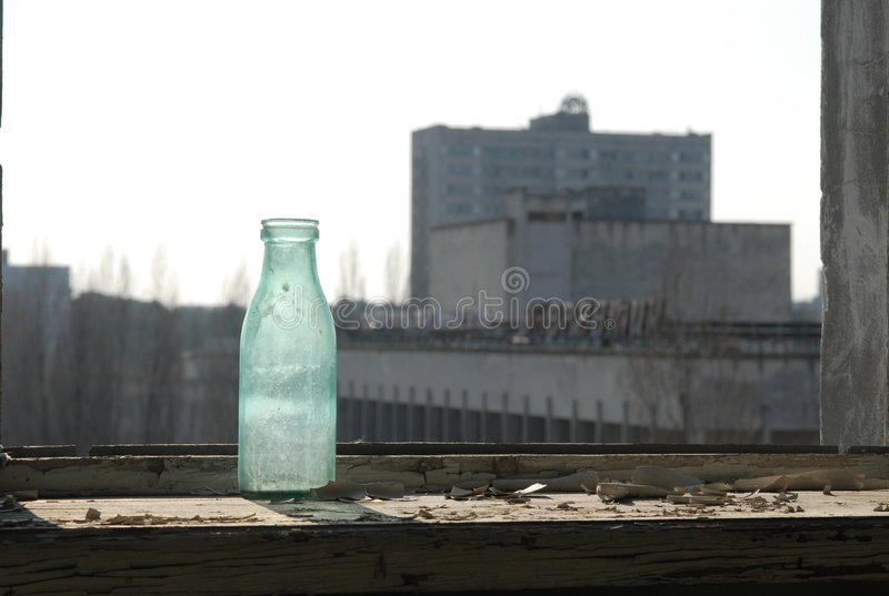 Hotel abandonado em Chernobyl imagens de stock royalty free