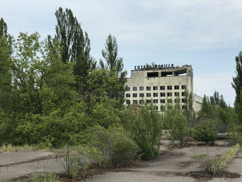 Hotel abandonado em Pripyat imagem de stock royalty free