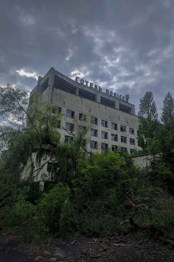 Hotel abandonado en Pripyat foto de archivo libre de regalías