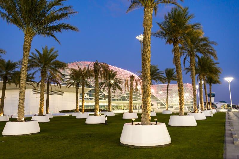 Hotel Abu Dhabi United Arab Emirates del virrey de Yas fotografía de archivo