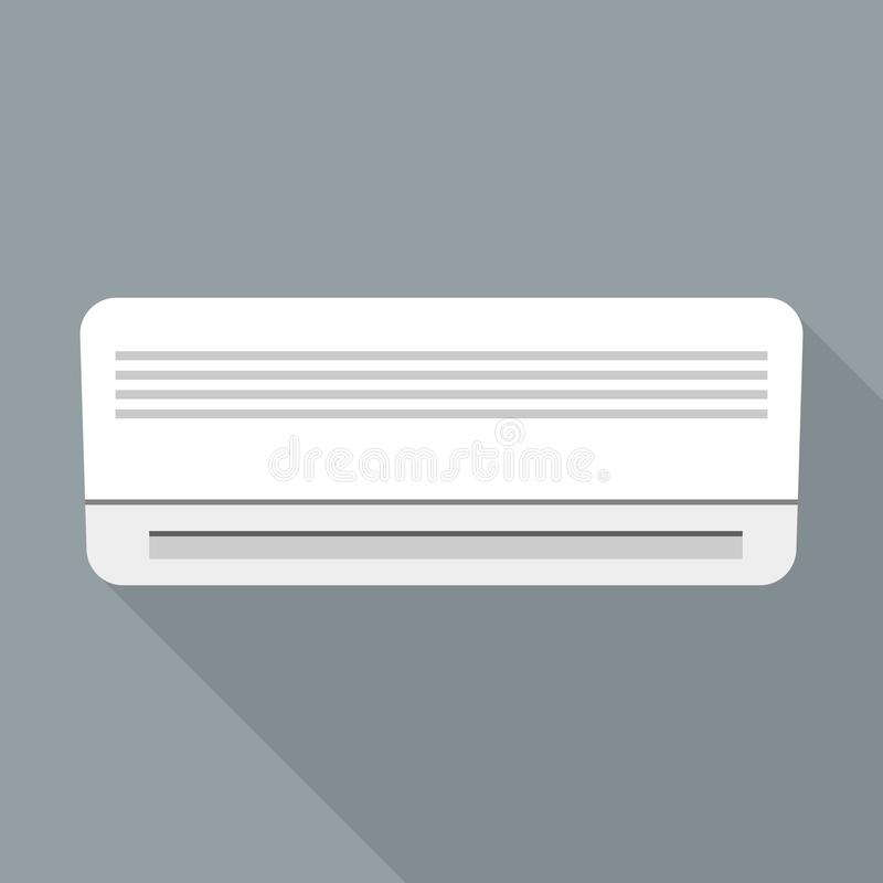 Hotel air conditioner icon, flat style. Hotel air conditioner icon. Flat illustration of hotel air conditioner vector icon for web design royalty free illustration