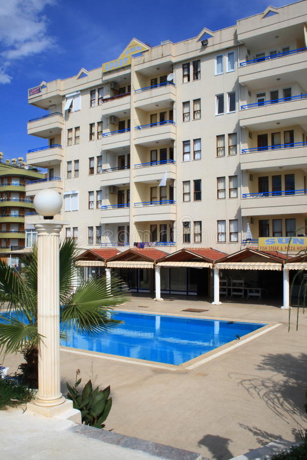 Hotel. Alanya. Turkey. royalty free stock image