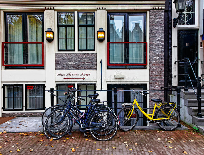 Hotel in Amsterdam royalty free stock photo