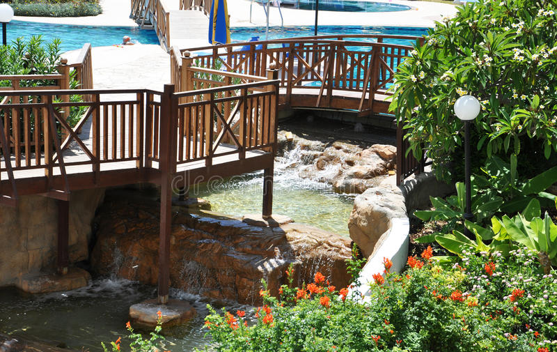 The hotel area Cyprus stock photo
