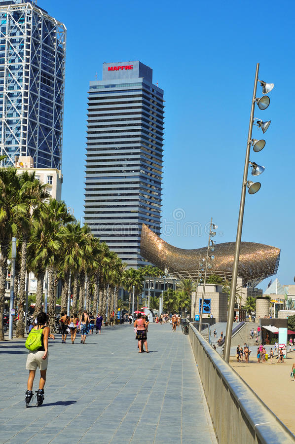 Download Hotel Arts And Torre Mapfre In Barcelona, Spain Editorial Stock Image - Image: 20980319