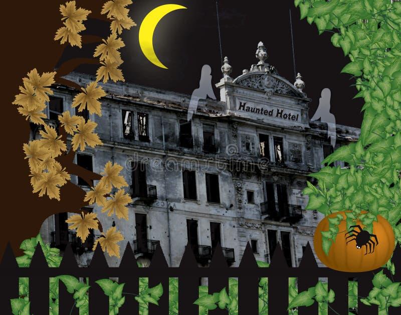 Hotel assombrado ilustração royalty free