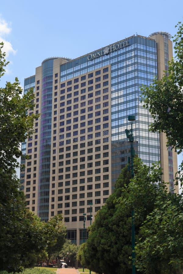 Hotel Atlanta do centro de Omni, Geórgia fotografia de stock royalty free