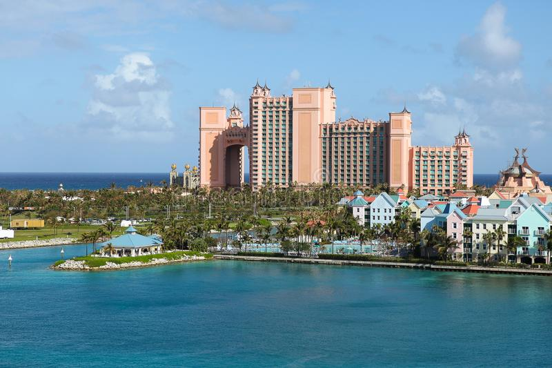Hotel Atlantis in the Bahamas stock images