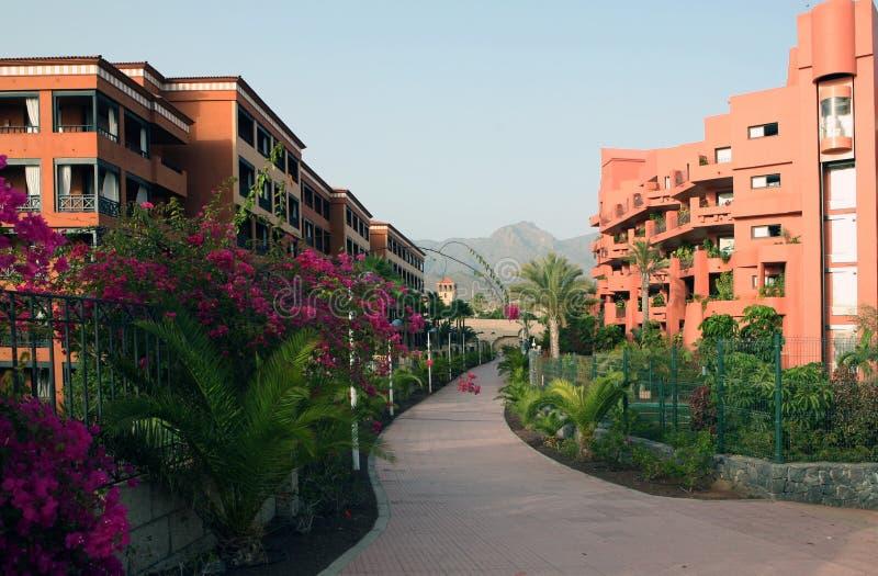 Hotel auf Tenerife lizenzfreie stockfotos