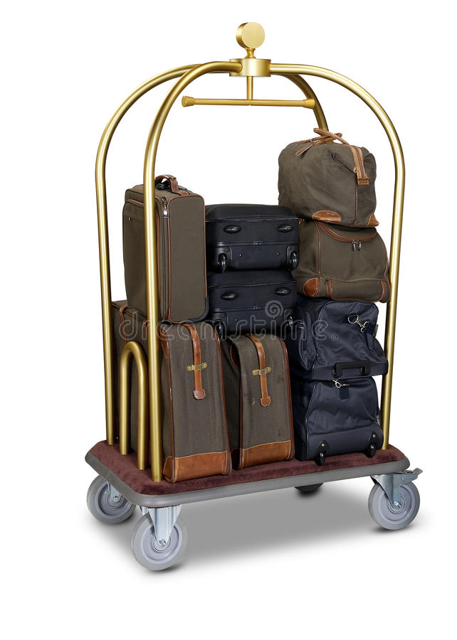 Hotel baggage cart royalty free stock photos