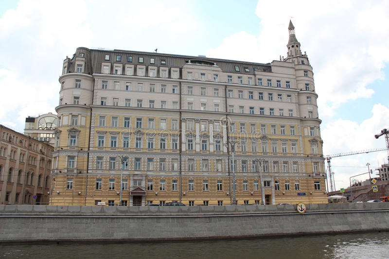 The hotel Baltschug Kempinski. Moscow royalty free stock photo