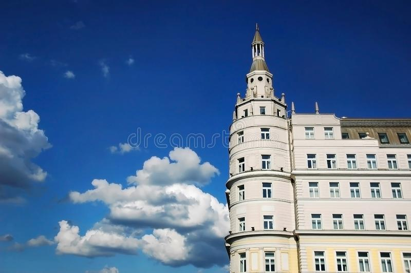 Hotel Baltschug Kempinski, Moscow, Russia. Luxury Hotel Baltschug Kempinski in Moscow, located in city center, walking distance from Red Square stock images