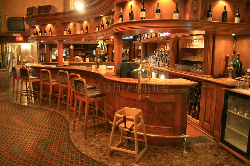Hotel Bar. Tavern associated with a hotel stock photography