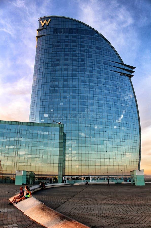 Hotel Barcellona di W fotografie stock