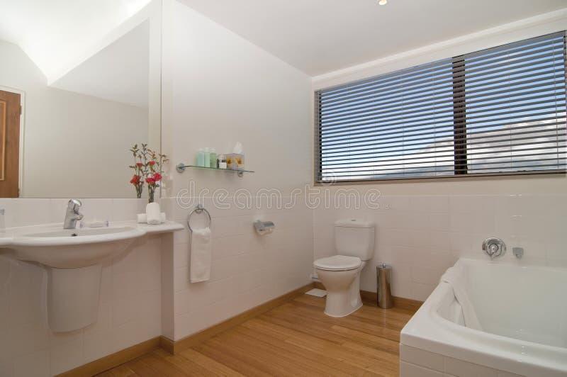 Hotel Bathroom. A modern bathroom layout interior stock image