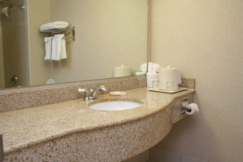 Hotel Bathroom 2. View of Hotel Bathroom stock photography
