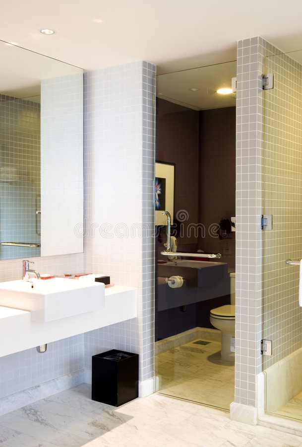 Hotel Bathroom. Image of a luxury hotel bathroom royalty free stock photo