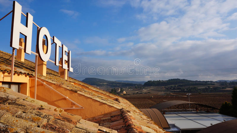 Hotel in the beautiful countryside royalty free stock photography