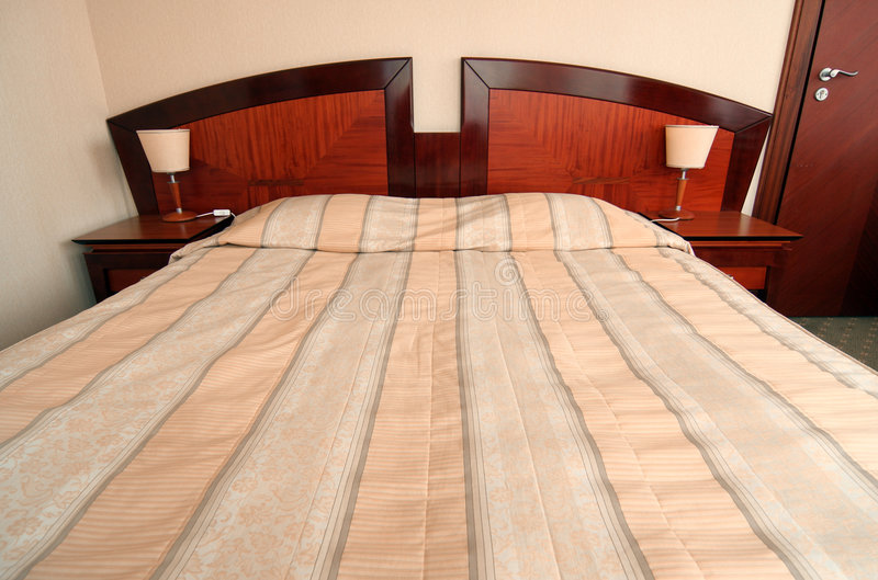 Hotel Bed Royalty Free Stock Photo