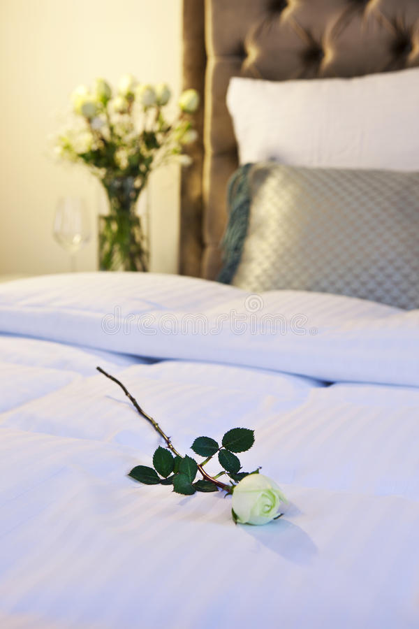 Download Hotel bed stock image. Image of cosy, curtain, chair - 28404271