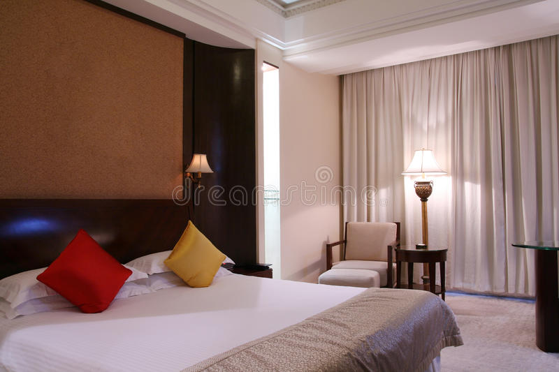 Download Hotel bedroom stock photo. Image of decoration, curtain - 11465866