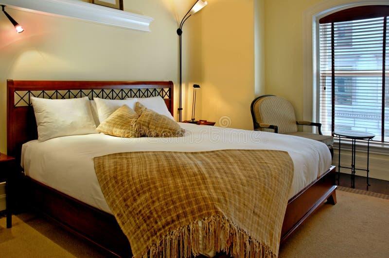 Hotel bedroom stock photography