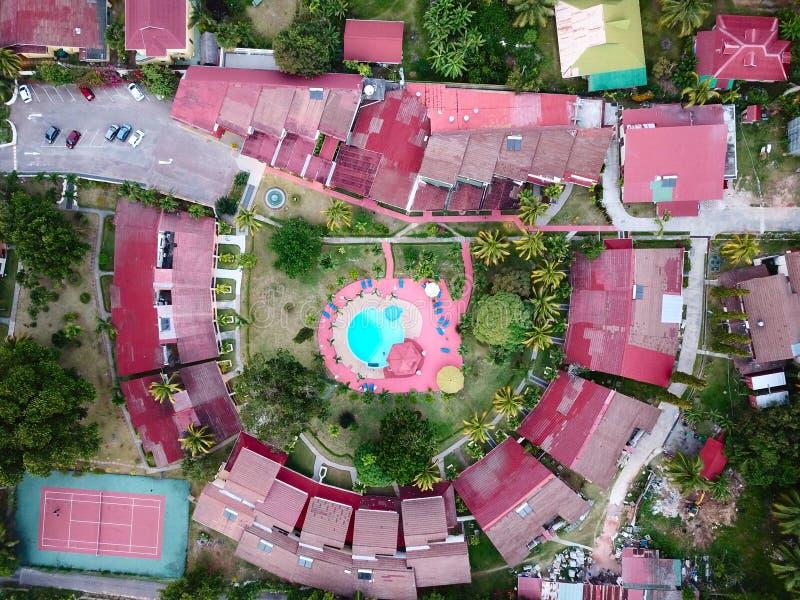 Hotel bei den Seychellen lizenzfreie stockfotografie