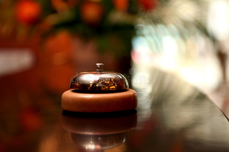 Download Hotel bell stock image. Image of motel, gold, showing - 13761817