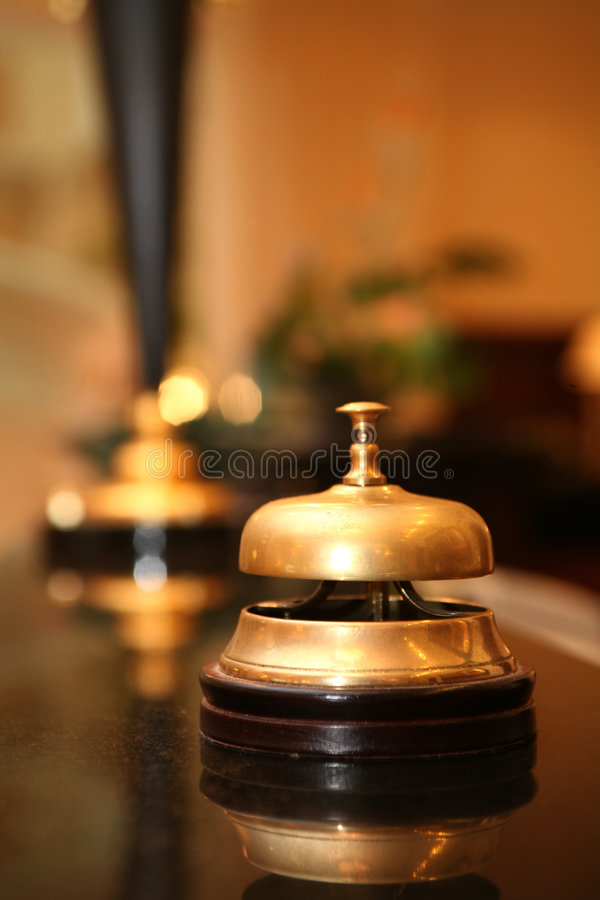 Hotel bell royalty free stock images