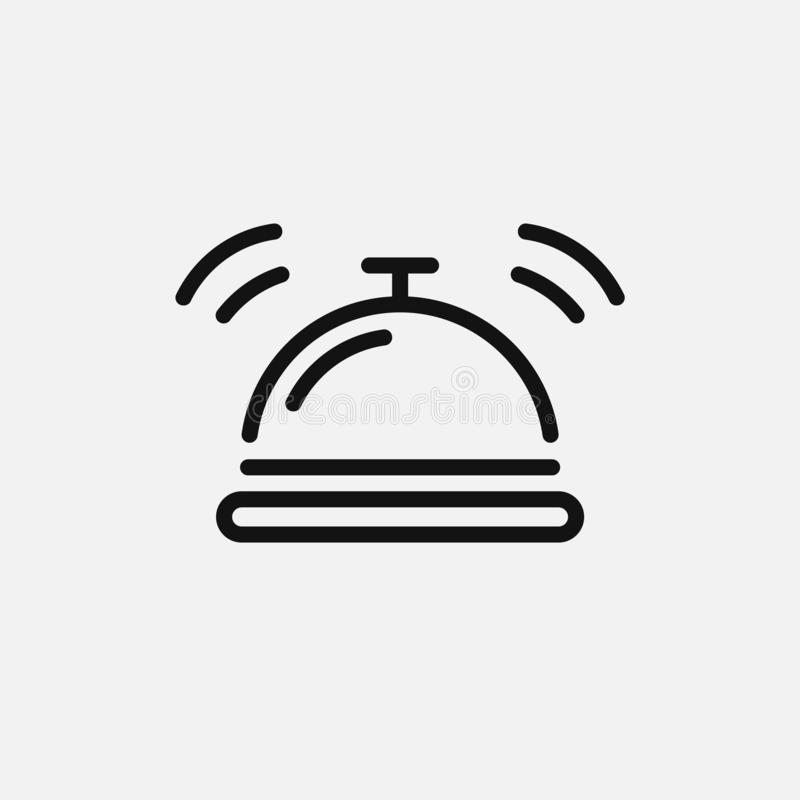 Hotel bell icon isolated on white background. Vector illustration. stock illustration