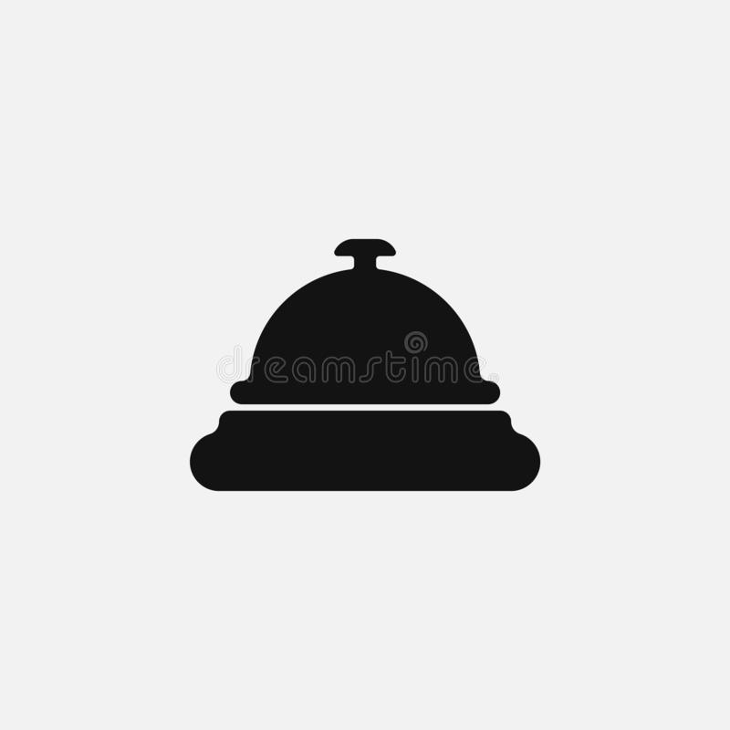 Hotel bell icon isolated on white background. Vector illustration. vector illustration