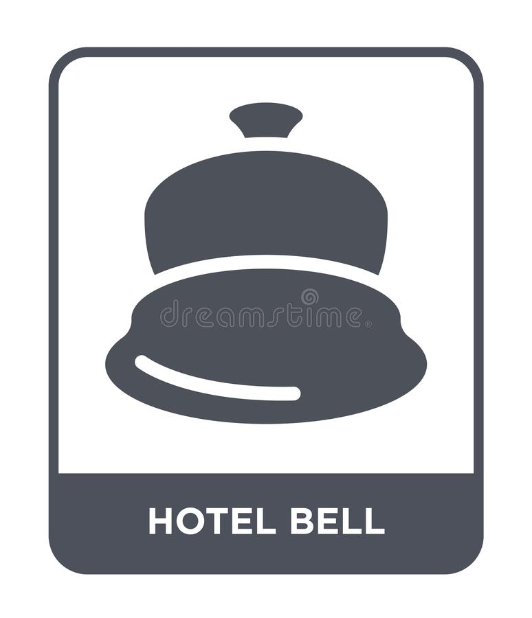 hotel bell icon in trendy design style. hotel bell icon isolated on white background. hotel bell vector icon simple and modern vector illustration