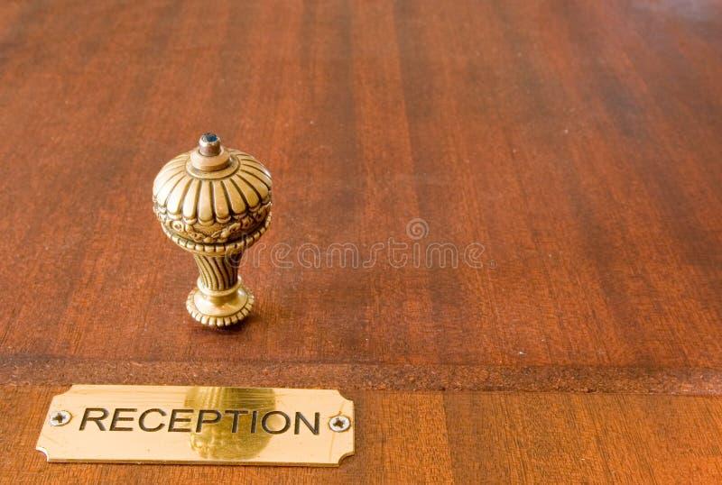 hotel bell strona zdjęcia stock