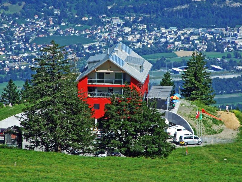 Hotel Berghaus Malbun in Buchs immagine stock libera da diritti