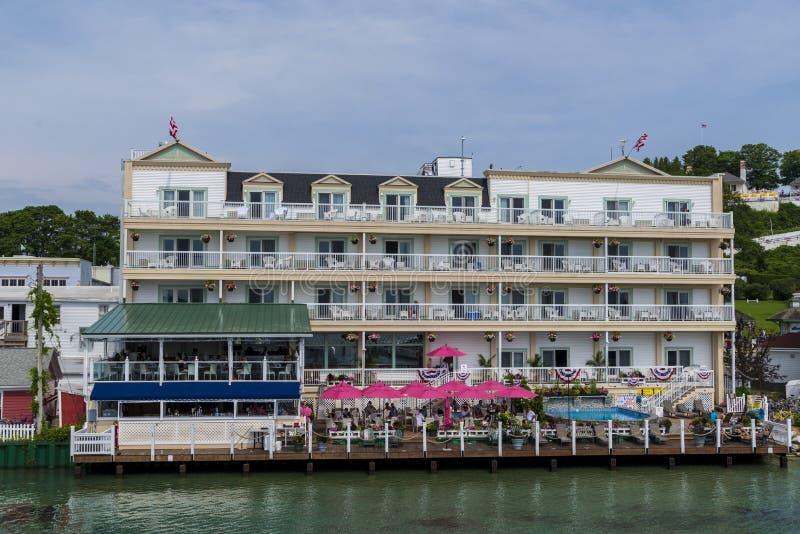 Hotel bij mackinaceiland royalty-vrije stock afbeelding