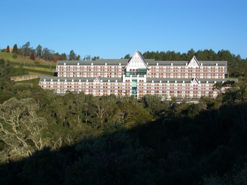 Hotel brasiliano 1 - Campos fa la città di Jordão immagine stock libera da diritti
