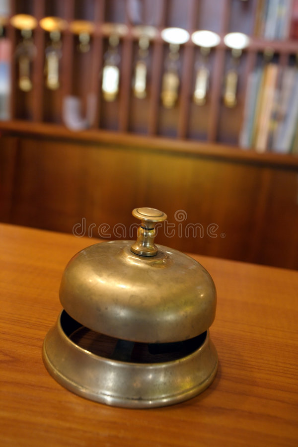 Free Hotel Brass Bell Royalty Free Stock Image - 5407336