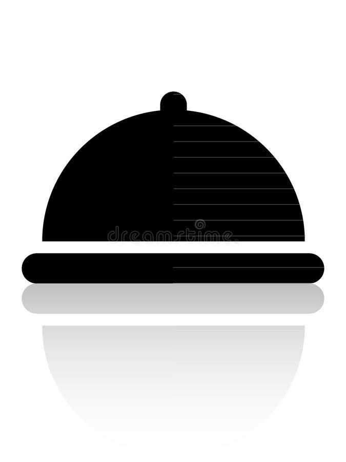 Hotel Breakfast Dish com Ícone Lid ilustração royalty free