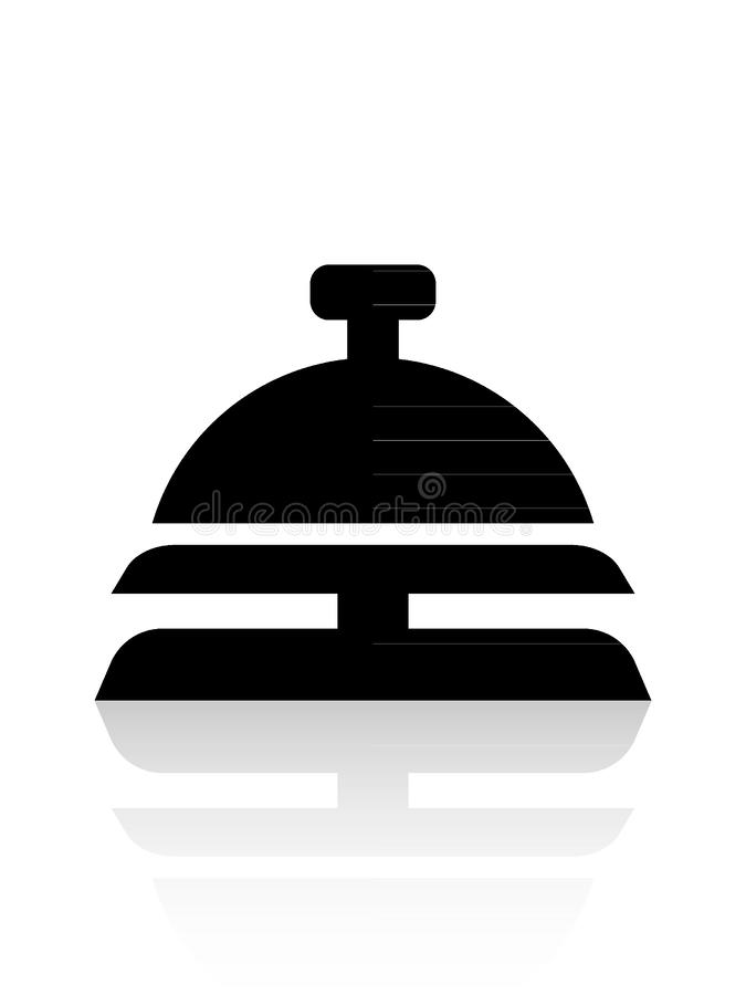 Hotel Breakfast Dish com Ícone Lid ilustração stock