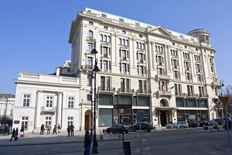 Hotel Bristol in Warsaw stock photo