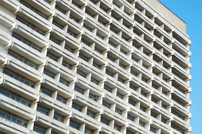 Hotel building stock image