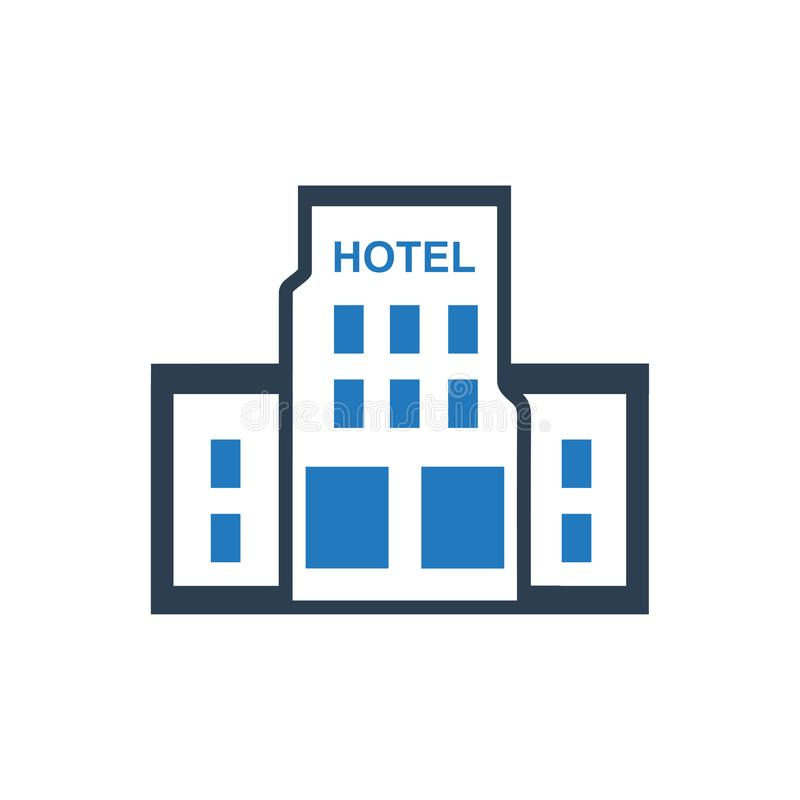 Hotel Building Icon. Beautiful, Meticulously Designed Hotel Building Icon vector illustration