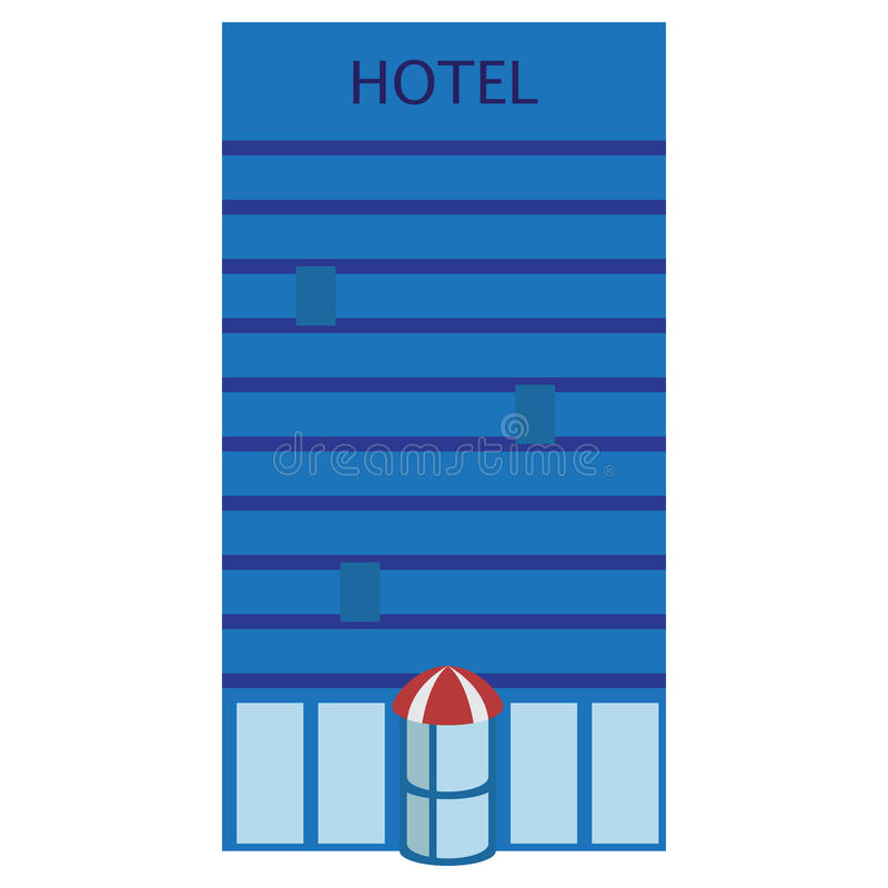 Hotel building icon, vector illustration. Flat style design isolated on white. Colorful graphics stock illustration