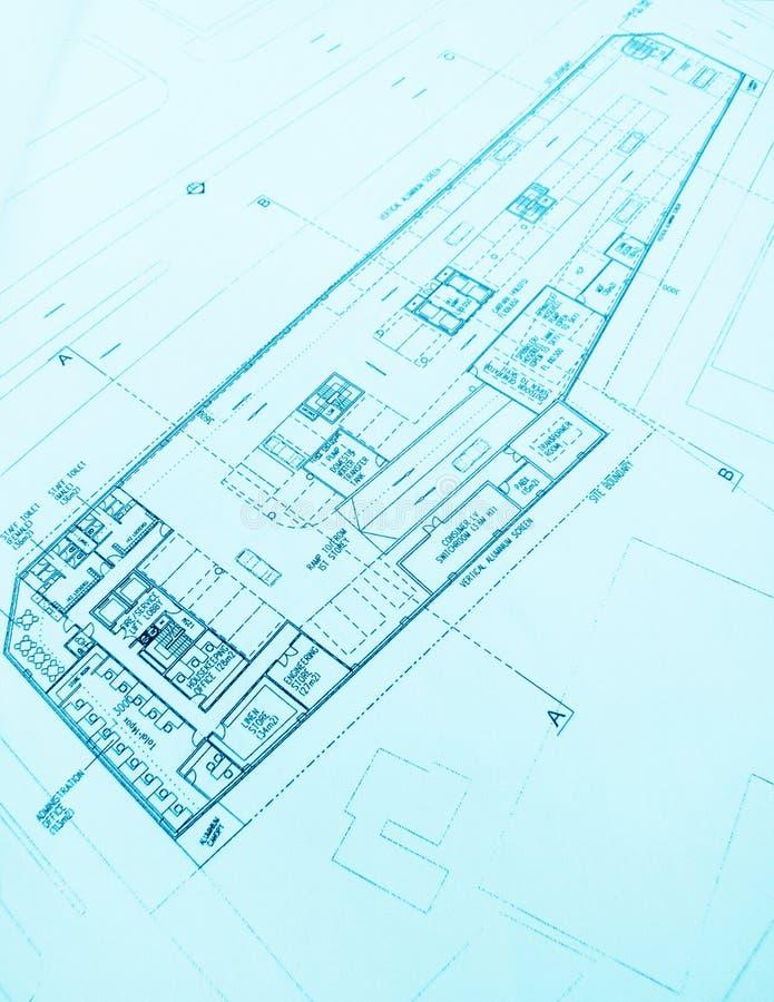 Hotel building plan stock photo