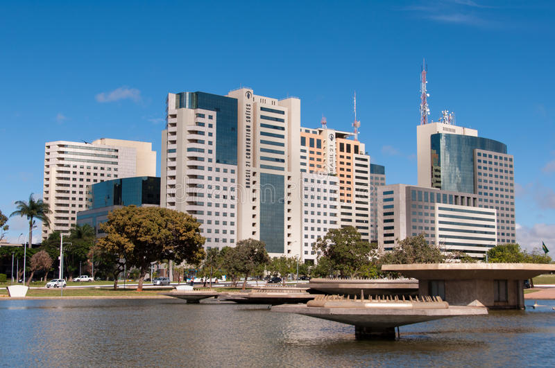 Hotel Buildings Complex of Brasilia royalty free stock images