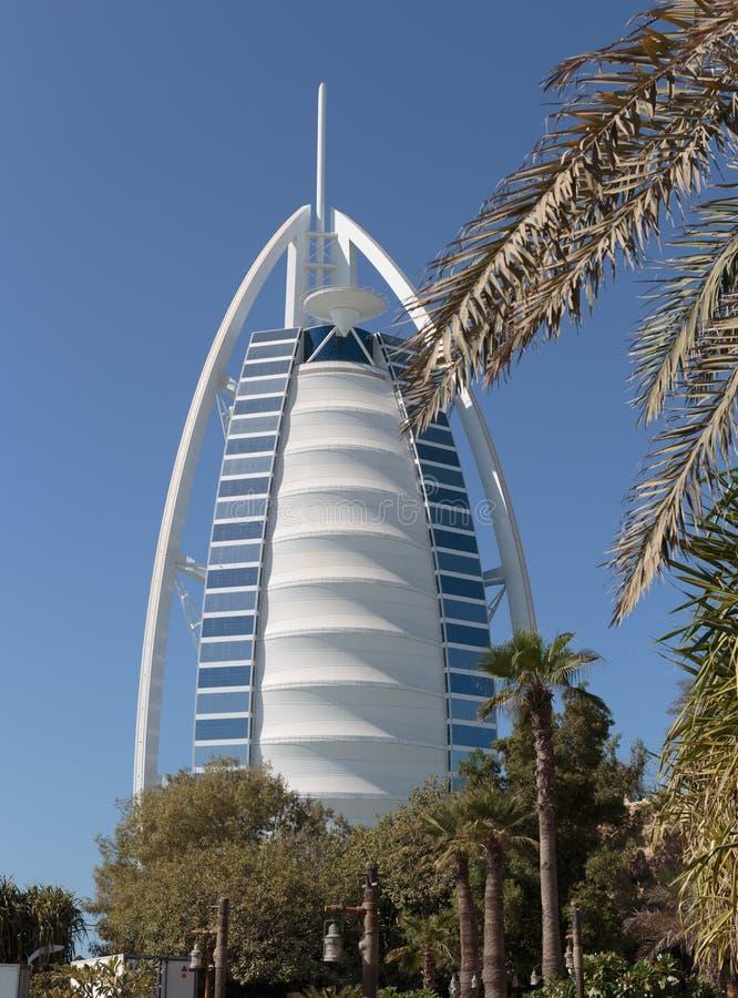 Hotel Burj Al Arab, vela árabe en Dubai UAE imagen de archivo libre de regalías