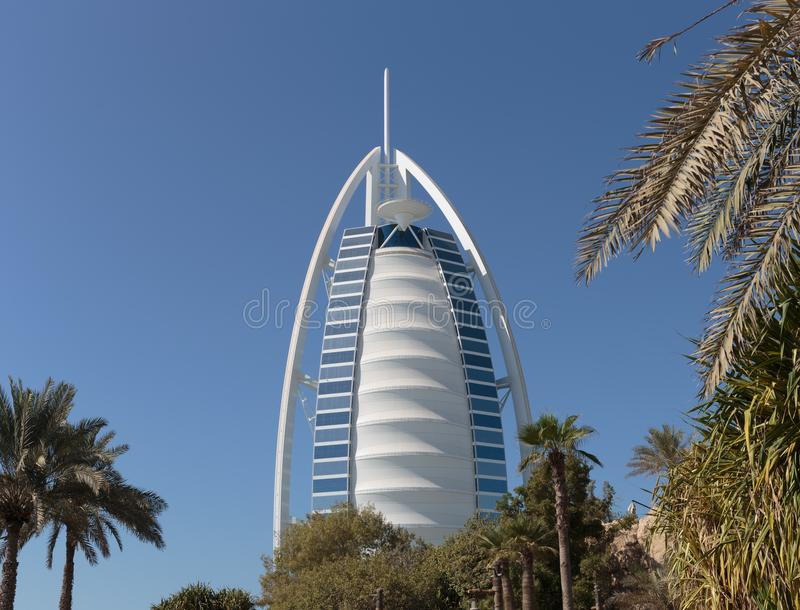 Hotel Burj Al Arab, vela araba nel Dubai UAE immagine stock