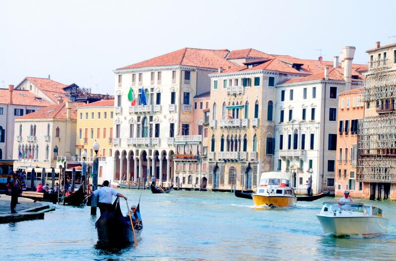 Hotel Ca' Sagredo - Grand Canal - Venice Italy Venezia - photo by gnuckx and HDR processing by Mike G. K. royalty free stock photo