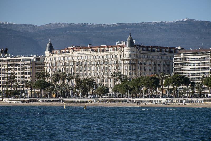 Hotel Carlton Cannes fotografia stock libera da diritti